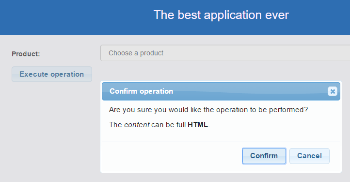 Button and confirmation dialog in jQuery UI