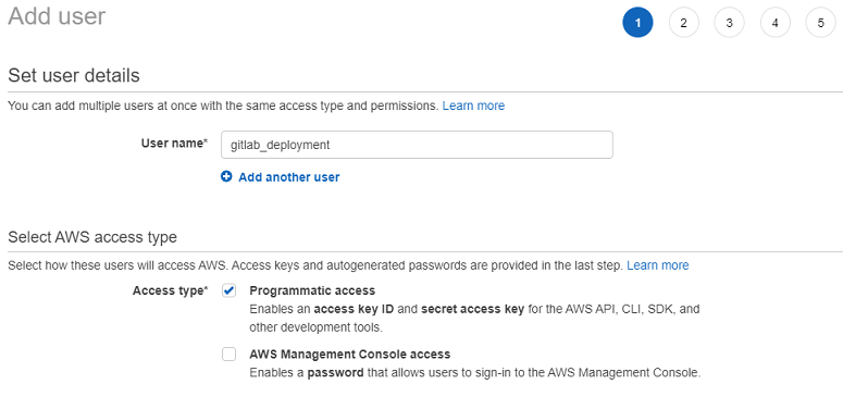 aws create access key 2
