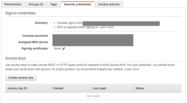 aws create access key 5