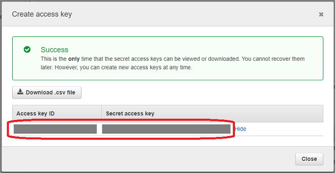 aws create access key 6