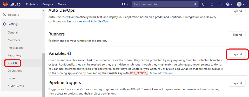 gitlab access key